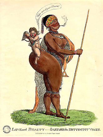Sarah Baartman - A caricature of Baartman drawn in the early 19th century
