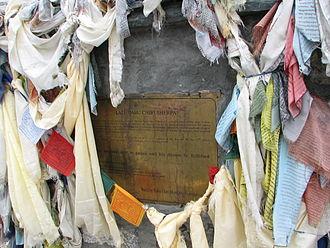 Babu Chiri Sherpa - Babu Chiri Sherpa memorial near Mount Everest base camp