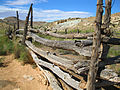Back Fence of the Wolfe Ranch Homestead in Arches National Park.JPG