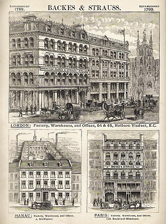 Backes & Strauss - Image: Backes & Strauss Offices c. 1800s