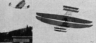 Canadian Aerodrome Baddeck No. 1 and No. 2 - Two images of the Baddeck No. 2 in flight.