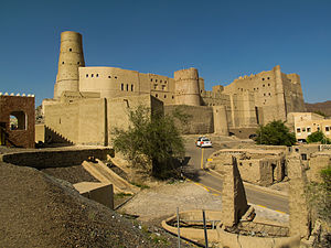 Bahla Fort, a UNESCO World Heritage Site in restoration