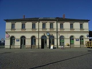 railway station in Pirna, Germany