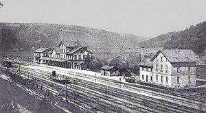 Landau–Rohrbach railway - Pirmasens Nord (then Biebermühle) station in 1900