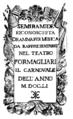 Baldassare Galuppi - Semiramide reconosciuta - titlepage of the libretto - Bologna 1751.png