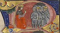בלדווין הרביעי, מלך ירושלים וחיליוכתב יד משנת 1295
