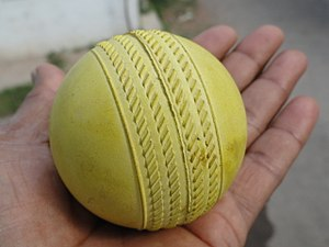 Cricket ball - A yellow alternative cricket ball
