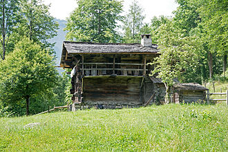 Brienzwiler - A traditional house from the Canton of Valais at the Ballenberg Museum