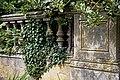 Balustrade plinth at Easton Lodge Gardens, Little Easton, Essex, England 2.jpg