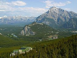 Banff Canada seen from the sulphur mountain gondola.jpg