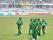 Bangladesh Team Returning to Dressing Room