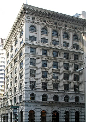 Bank of Italy Building (San Francisco) - Bank of Italy Building, 550 Montgomery Street, San Francisco. Also known as the Clay-Montgomery Building.