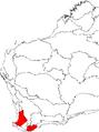 Banksia sphaerocarpa var. sphaerocarpa map.png