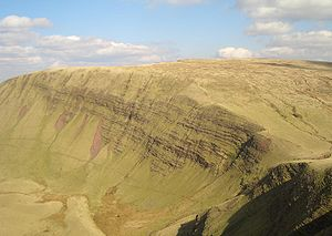 Brecon Beacons - Fan Brycheiniog, the highest peak on the Black Mountain