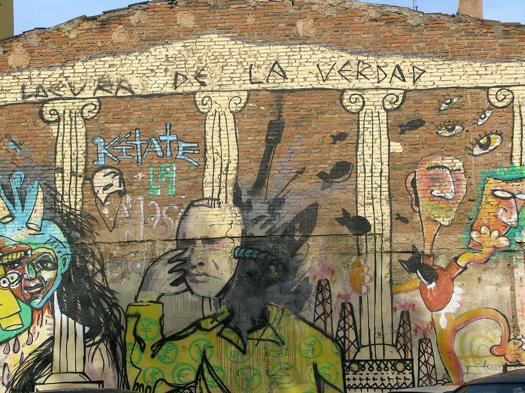 Street art dans le quartier de Poblenou à Barcelone - Photo d'Alain Rouiller