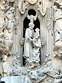 Barcelona Sagrada familia sculptures in the Nativity Facade 06.jpg