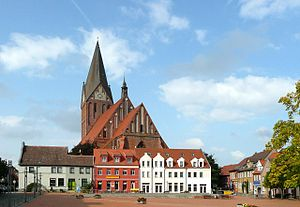 Barth, Germany - Image: Barth Blick zur Marienkirche geograph.org.uk 8662