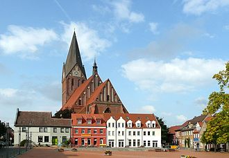Barth, Germany - Image: Barth Blick zur Marienkirche geograph.org.uk 8662