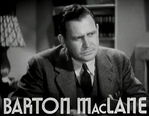 Barton MacLane - MacLane in Smart Blonde (1937)