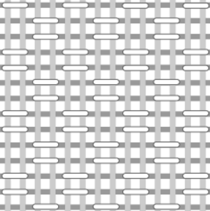 Plain weave - Structure of basketweave fabric
