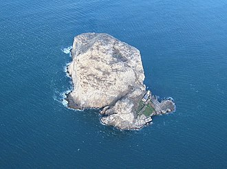 Bass Rock - The Bass from the air