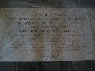 Frédéric Bastiat - Frédéric Bastiat's tomb in San Luigi dei Francesi