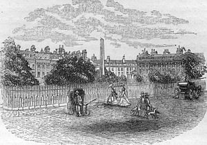 Queen Square, Bath - Queen Square in 1864