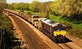 Bathpool - GBRf 66743+66719 track train to Westbury.JPG