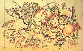Siege of Damietta (1249) - Miniature from the Chronica Majora by Matthew Paris (c. 1255)