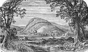 Prospect Park (Brooklyn) - The Battle Pass area, an etching circa 1792