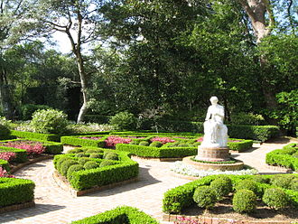 Ima Hogg - View of the gardens at Bayou Bend