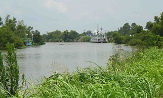 Bayou Lafourche - Riverboat on Bayou Lafourche.
