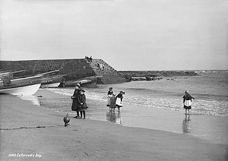 Cullercoats - Cullercoats beach in 1888