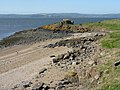 Beach, old jetty and ruin on Cramond Island - geograph.org.uk - 2382431.jpg