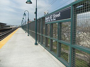 Beach 67th Street (IND Rockaway Line) - Northbound platform