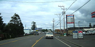 U.S. Route 101 in Oregon - US 101 through downtown Seaside