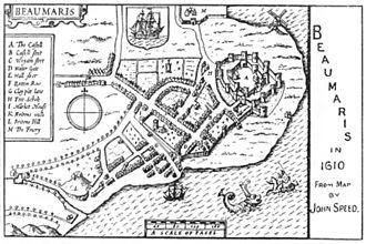 Beaumaris - Beaumaris in 1610.