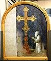 Beccafumi, testata di cataletto, 1503 ca. (siena pinacoteca), confratelli pregano una croce.jpg
