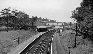 Beckenham Hill railway station - The station in 1962