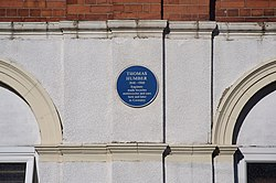 Photo of Thomas Humber blue plaque