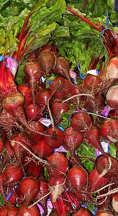Garden beets at a grocery store
