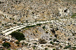U.S. Route 80 in California - The abandoned alignment of US 80 across the In-Ko-Pah Gorge