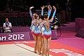 Belarus Rhythmic gymnastics team 2012 Summer Olympics 08.jpg