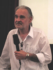"Bela Tarr presentant la pel·lícula ""The Man from London"" al Festival de Cinema de Sarajevo (2007)"