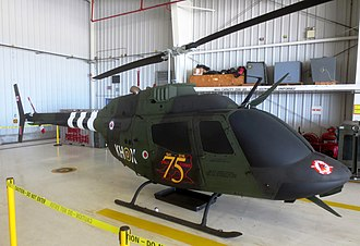 CFB Gagetown - A Bell CH-136 military helicopter at CFB Gagetown