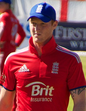 Ben Stokes - Stokes playing for England during an ODI against Ireland in 2013