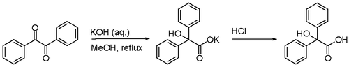 Scheme 1. Benzilic acid rearrangement