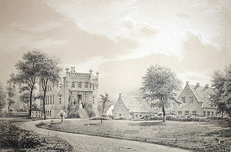 Benzonsdal - Benxonsdal's new main building painted by Ferdinand Richardt