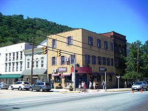 Berkeley Springs, West Virginia - Town square in Berkeley Springs