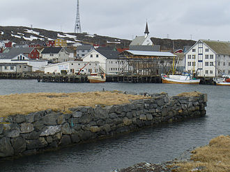 Berlevåg - View of the village of Berlevåg